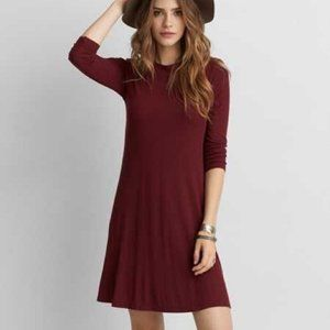 American Eagle AE Soft Sexy Dress Maroon Mock L